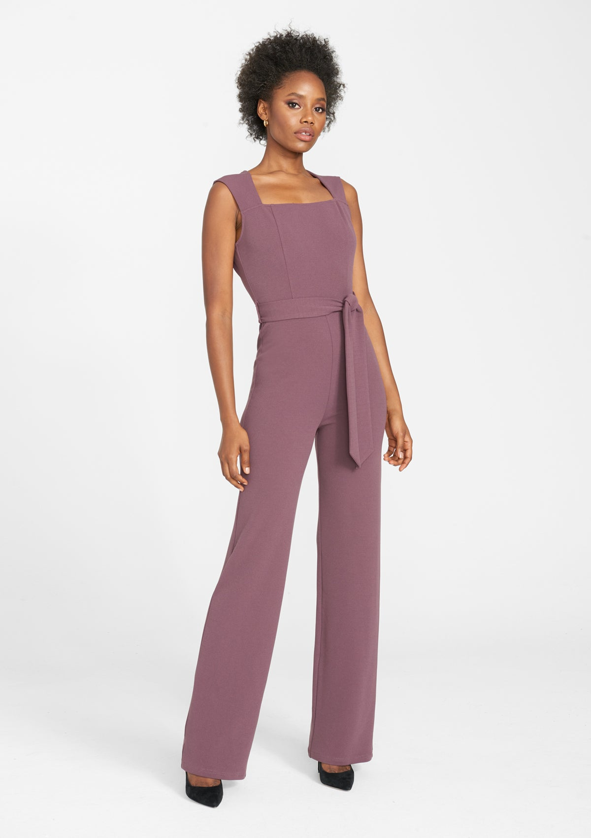 Alloy Apparel Tall Ava Jumpsuit 2.0 for Women in Dark Mauve Size S   Polyester