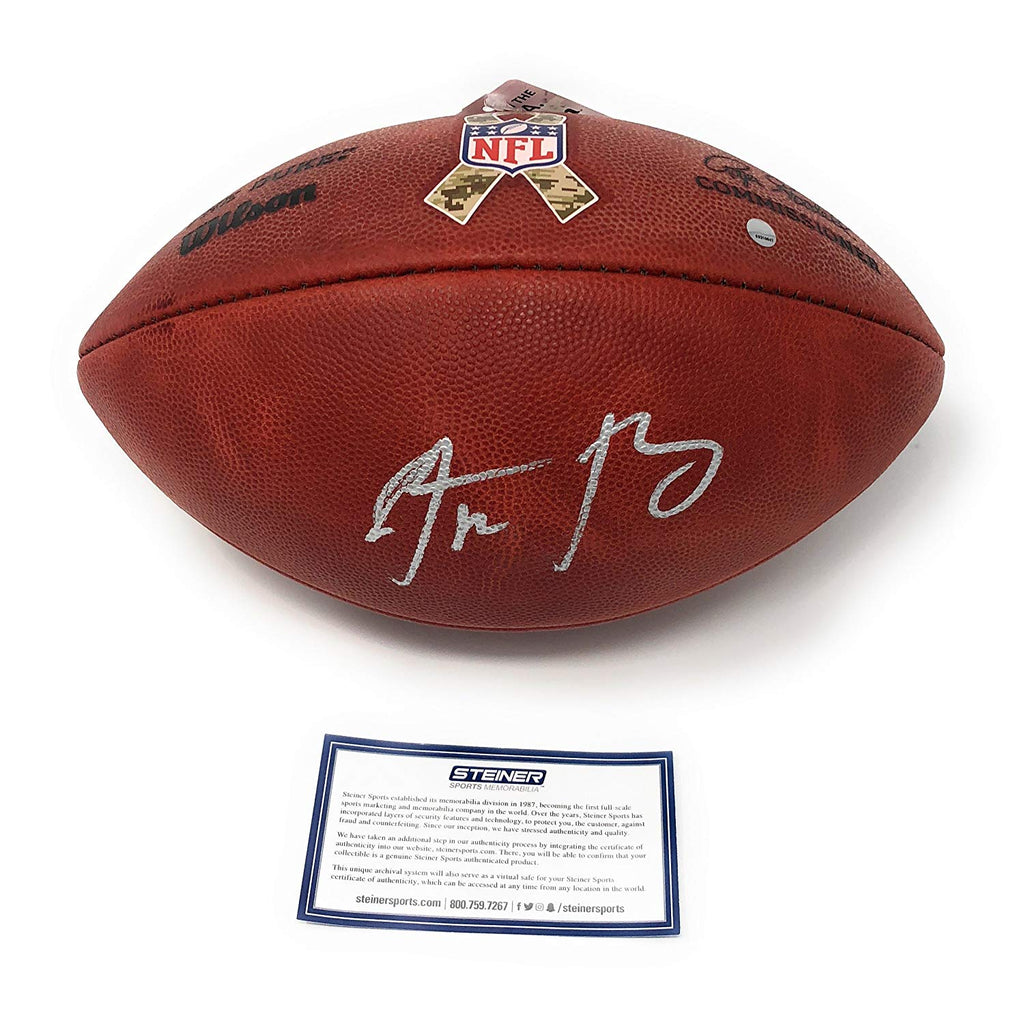 buy online 7e44a 8756f Aaron Rodgers Green Bay Packers Signed Autograph NFL Authentic Duke Salute  To Service Football Steiner Sports Certified