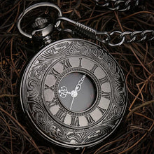 Load image into Gallery viewer, Black Steampunk Pocket Watch