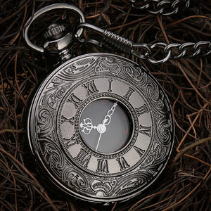 Black Steampunk Pocket Watch