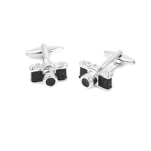 Camera shaped cufflinks