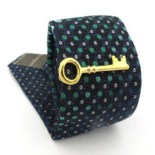 Load image into Gallery viewer, Gold Key tie pin
