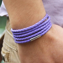 Laden Sie das Bild in den Galerie-Viewer, Leather Wraparound Braided Wrist Band