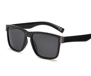 Smoke Lens, Gloss black framed sunglasses