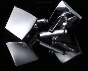 Twisted square silver cufflinks