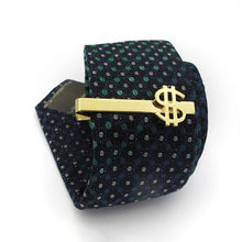 Load image into Gallery viewer, Gold Dollar Sign Tie Pin