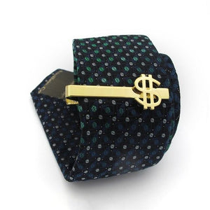 Gold Dollar Sign Tie Pin