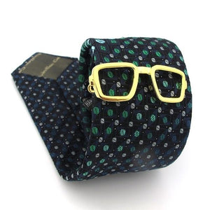 Gold Glasses Tie Pin