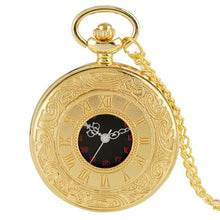 Load image into Gallery viewer, Gold steampunk pocket watch with 80cm chain
