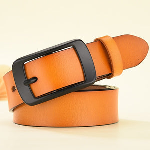LFMB Genuine Leather Pin Buckle Belt