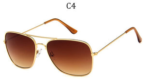 Square rimmed aviator Sunglasses UV400