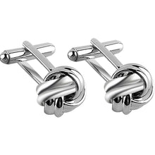 Load image into Gallery viewer, High Quality Knot Cufflinks For Men Shirt Cufflinks Gold Silver Plated Business & Wedding French Grooms Shirt Brand Cuff Links