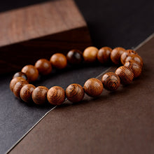 Load image into Gallery viewer, 10mm Natural Wood Beads Bracelet
