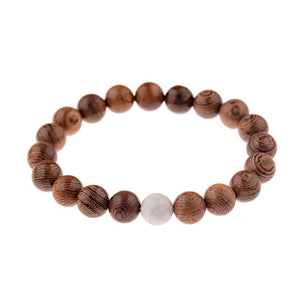 10mm Natural Wood Beads Bracelet