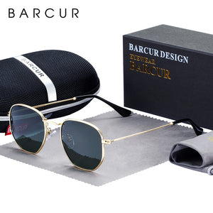 BARCUR Hexagon Sonnenbrille