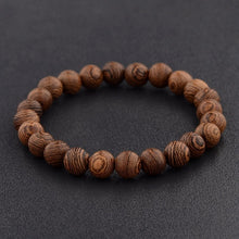 Load image into Gallery viewer, 8mm Natural Wood Beads Bracelet
