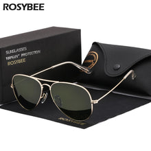 Load image into Gallery viewer, High Quality G15 Glass Lens women men Sunglasses uv400 aviation brand classic mirror male oculos vintage banned man sun Glasses