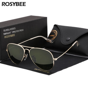 High Quality G15 Glass Lens women men Sunglasses uv400 aviation brand classic mirror male oculos vintage banned man sun Glasses