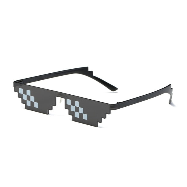 Thug life Deal With It Sunglasses Men Glasses Women Hot Sell Sun Glasses olygonal 8 Bits Style Pixel With Nose Pad