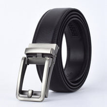 Load image into Gallery viewer, WOWTIGER Fashion Designers Men Automatic Buckle Leather luxury Belt Business Male Alloy buckle Belts for Men Ceinture Homme