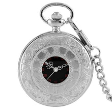 Load image into Gallery viewer, Silver steampunk pocket watch with 30cm chain
