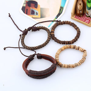 Six exquisite Leather Bracelets