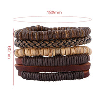 Laden Sie das Bild in den Galerie-Viewer, Six exquisite Leather Bracelets