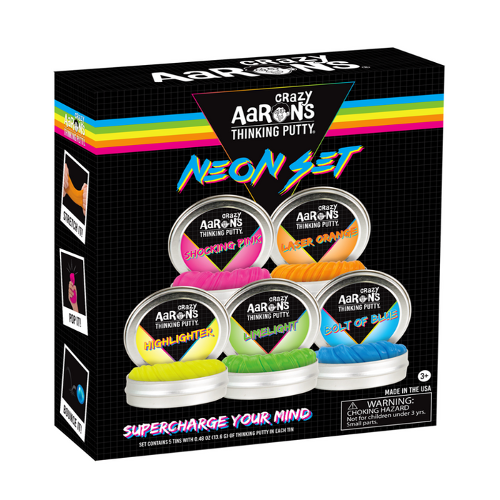 Crazy Aaron's Putty Neon 5 Pack Gift Set-Novelty Toys-Crazy Aaron's Putty-Toycra