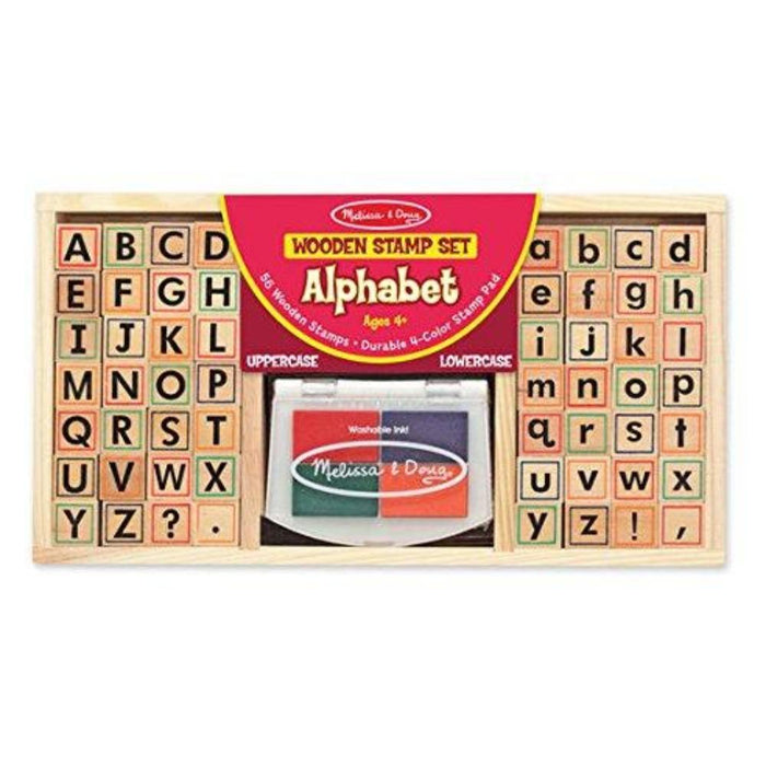 Melissa & Doug Wooden Alphabet Stamp Set-Learning & Education-Melissa & Doug-Toycra