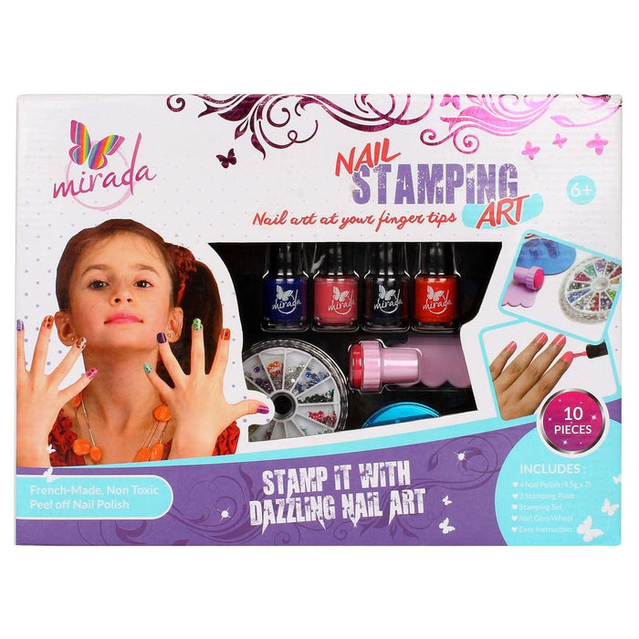 Mirada Nail Stamping Art Kit-Arts & Crafts-Mirada-Toycra