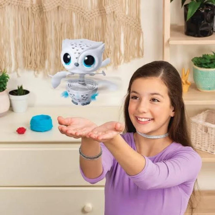 Owleez Flying Baby Owl Interactive Toy White-Electronic Toys-Owleez-Toycra