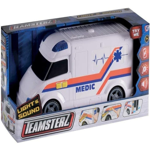 Teamsterz Light And Sound Ambulance-Vehicles-Teamsterz-Toycra