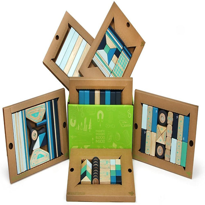 Tegu Classroom Magnetic Wooden Block Set 130 Piece ,Future-Construction-Tegu-Toycra