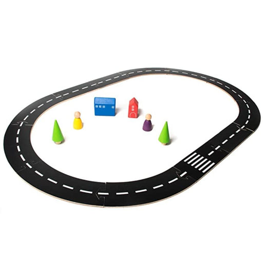 Wooden Road Track Set -MDF-Construction-Toycra-Toycra