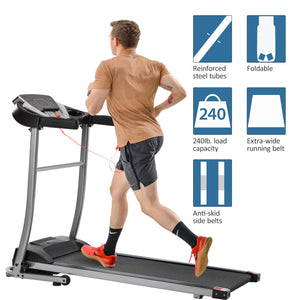 GT Electric Folding Treadmill Motorized Running and Jogging Fitness Machine for Home Gym with 12 Preset Programs US-2