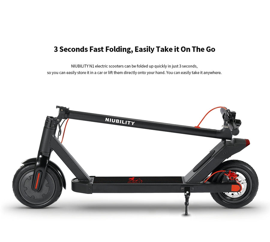 NIUBILITY N1 Electric Scooter 7.8Ah Battery 25Km Mileage 8.5 inch Wheel - Black(Poland Warehouse)