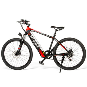 Pre-sale Samebike SH26 High Carbon Steel Electric Moped Mountain Bike New style E-bike - Black EU plug 8Ah