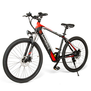 Samebike SH26 High Carbon Steel Electric Moped Mountain Bike New style E-bike - Black EU plug 8Ah(Poland warehouse)