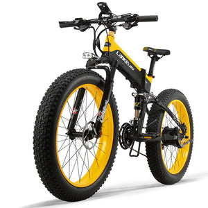 Pre-sale LANKELEISI XT750Plus Electric Bike Bicycle 48V 12.8AH 500W 26in Tire 100KM Mileage Range - Poland