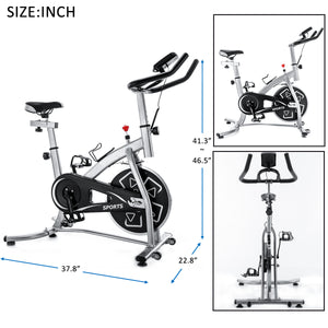 GT Stationary Professional Indoor Cycling Bike S280 Trainer Exercise Bicycle with 24 lbs. Flywheel US-5-6