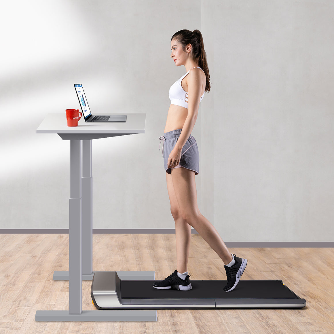 Xiaomi Mijia WalkingPad Treadmill A1 Smart Foldable Walking Machine - Carbon Gray - bebiking.com
