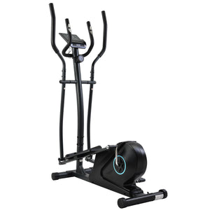 Elliptical Machine Trainer, Home Cross Trainer with LCD Monitor and Pulse Rate Grips Magnetic Smooth Quiet Driven UK-6