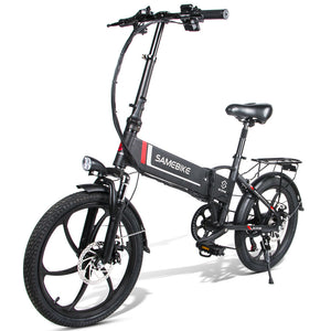 Samebike 20LVXD30 Smart Folding Electric Moped Bike E-bike 350W - EU Plug (Poland Warehouse)