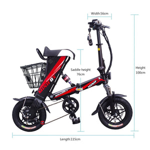 ENGWE A36 Electric Bike Bicycle 8AH Battery 250W Motor Front and Rear Disc Brake
