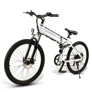 Samebike LO26 Moped Electric Bike Smart Folding E-bike 500W with spoke wheel - EU plug (Poland Warehouse)