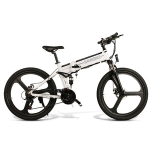 Samebike LO26 Moped Electric Bike Smart Folding E-bike - Black EU plug (Poland Warehouse)