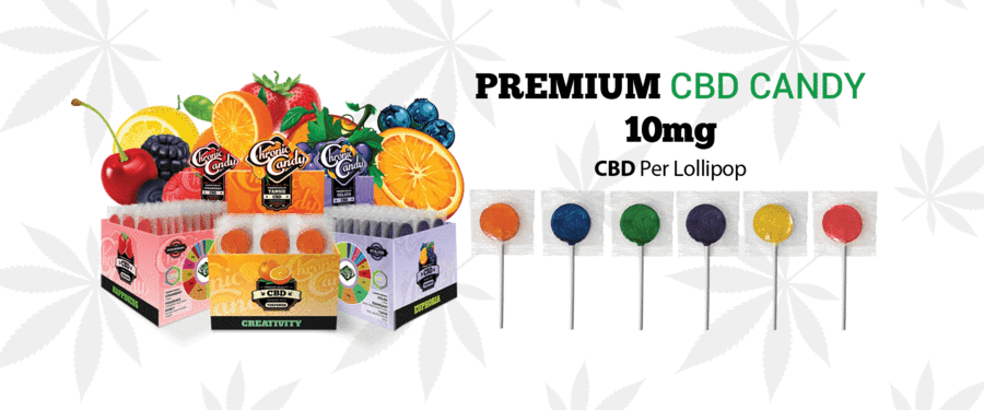 Chronic Candy OG, the Original Hemp Flavored Lollipop