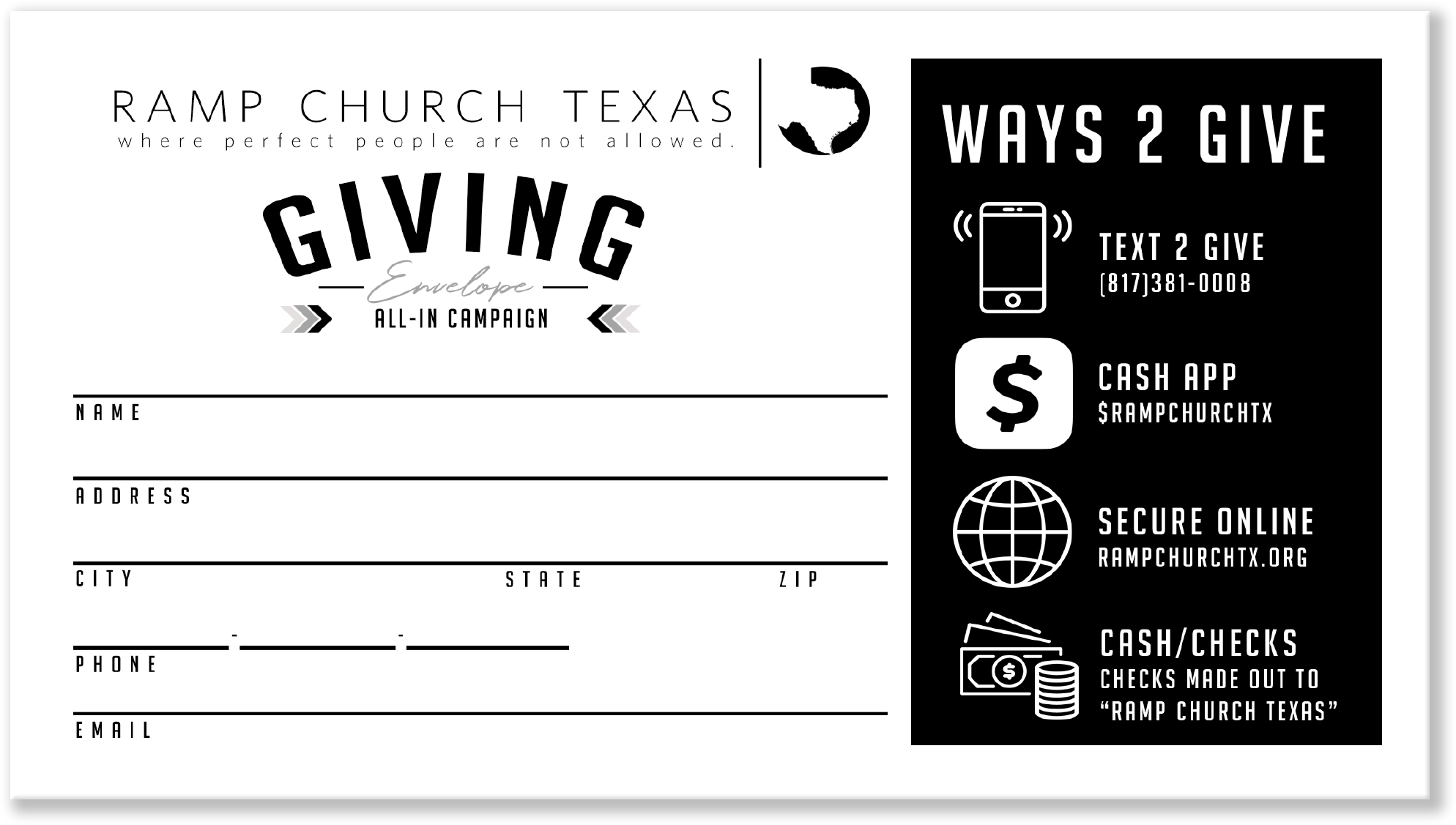 Tithe Envelopes Design