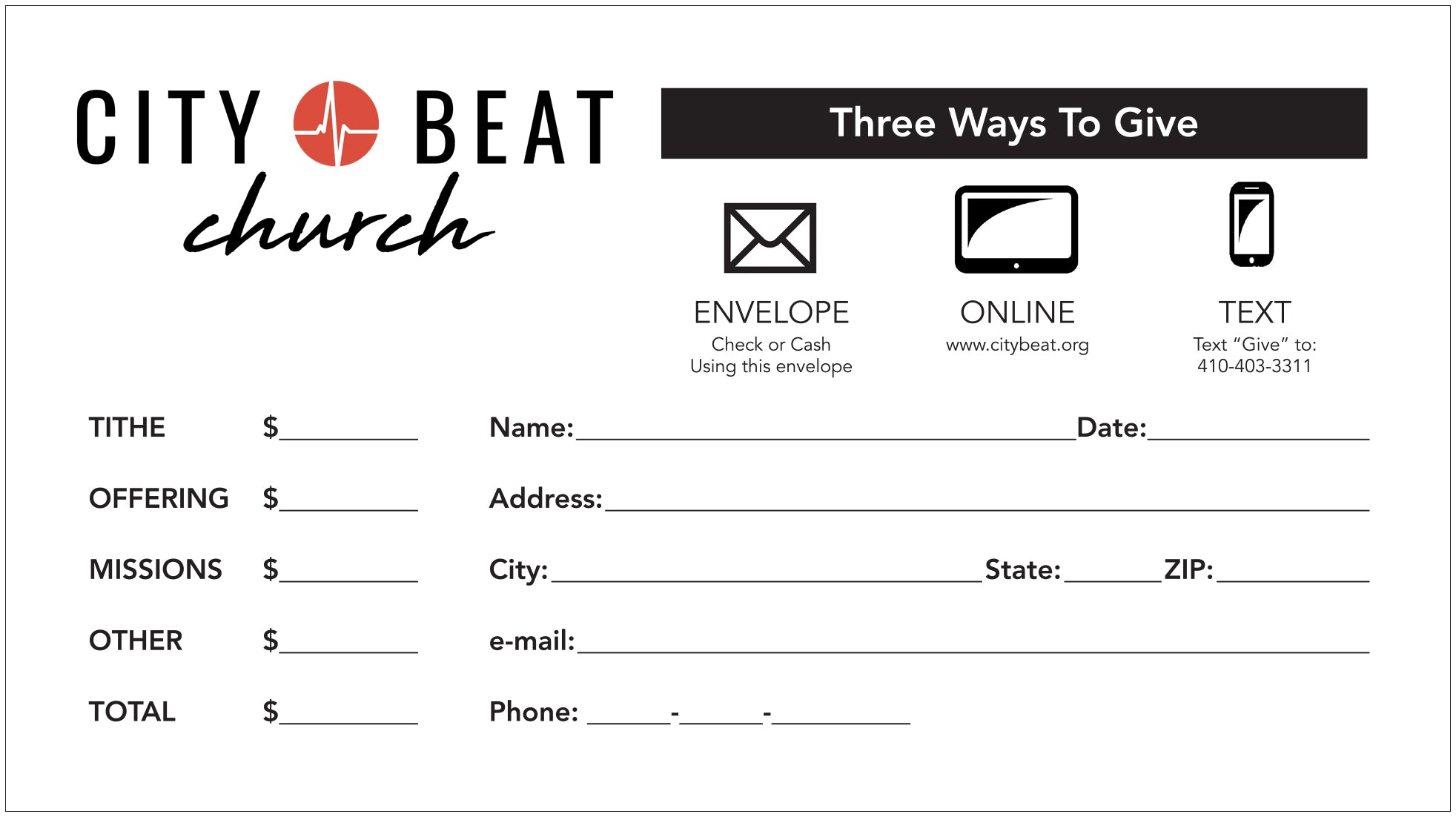 Church Offering And Tithing Envelopes
