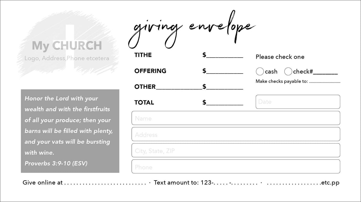Tithe Envelope Template 02